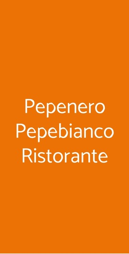 Pepenero Pepebianco Ristorante, Trieste