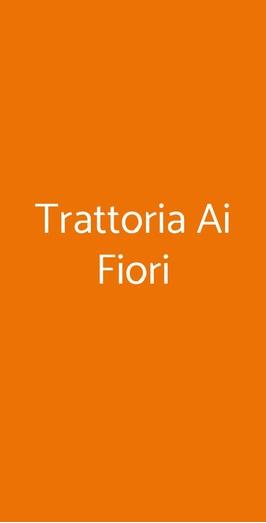 Trattoria Ai Fiori, Trieste