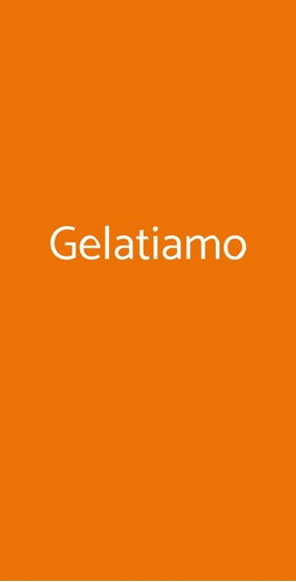 Menu Gelatiamo