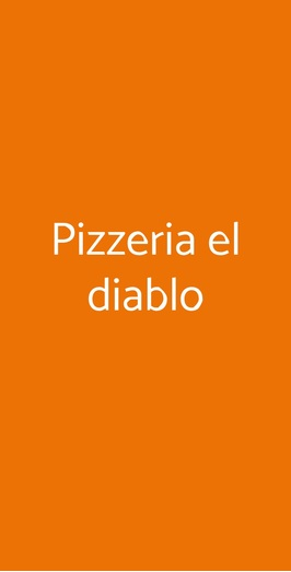 Pizzeria El Diablo, Trieste