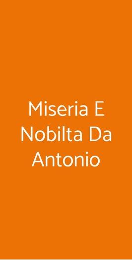Miseria E Nobilta Da Antonio, Trieste