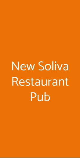 New Soliva Restaurant Pub, Galliate