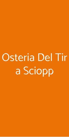 Osteria Del Tir A Sciopp, Invorio