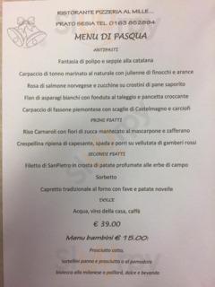 Ristorante Pizzeria Al Mille, Prato Sesia