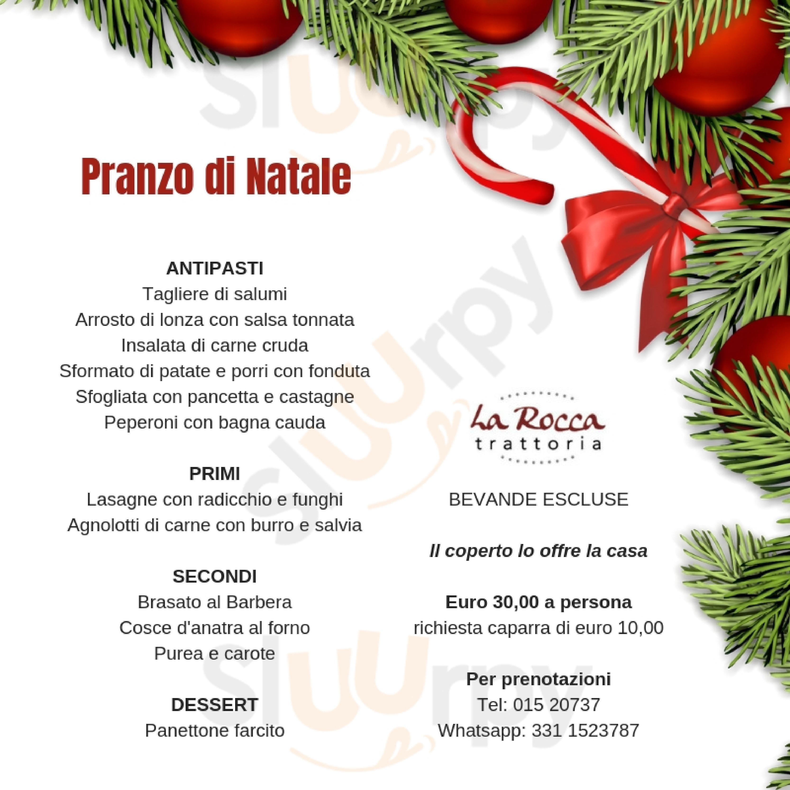 Trattoria La Rocca Biella menù 1 pagina