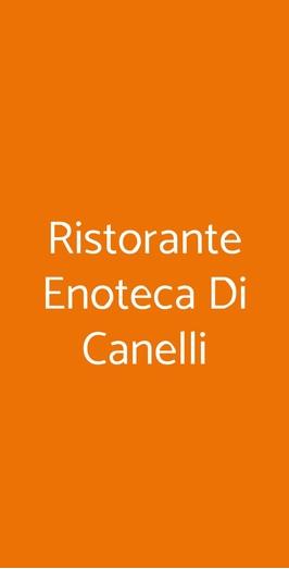 Ristorante Enoteca Di Canelli, Canelli