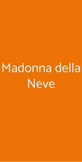Madonna Della Neve, Cessole