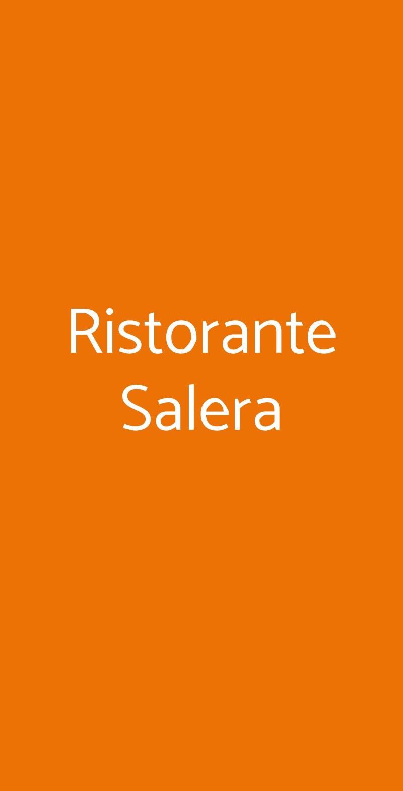 Ristorante Salera Asti menù 1 pagina