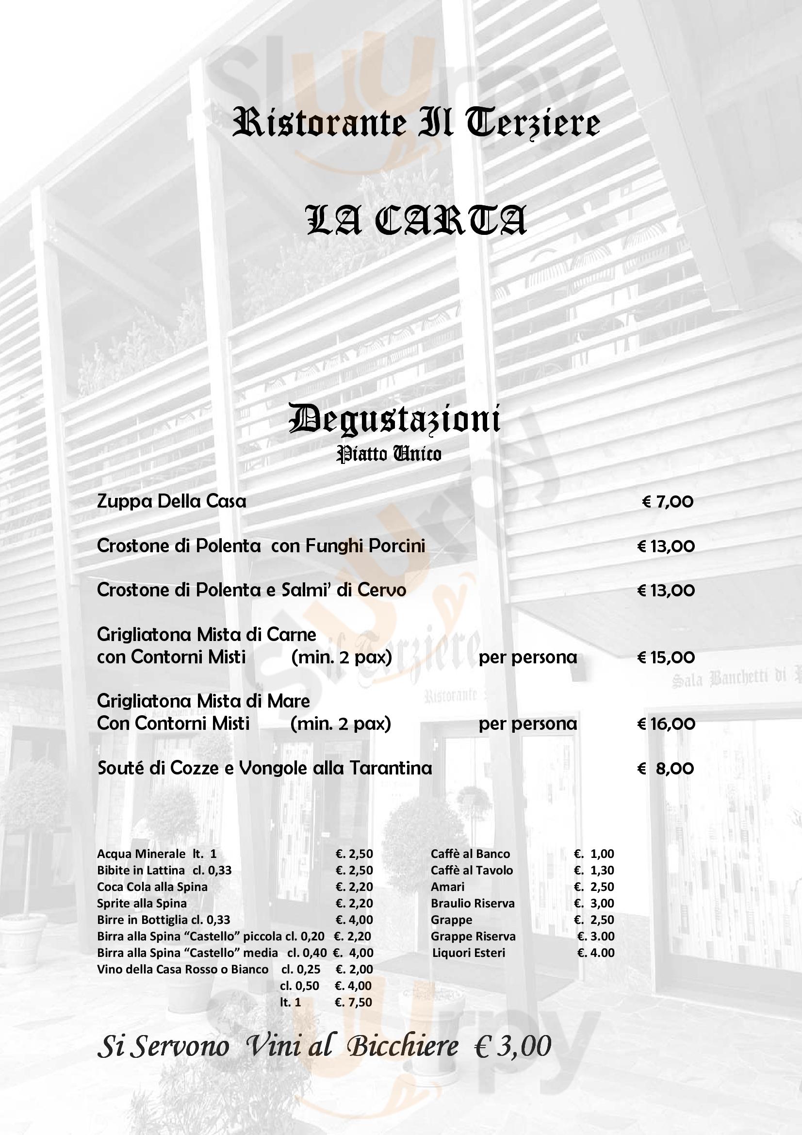 Il Terziere Andalo Valtellino menù 1 pagina