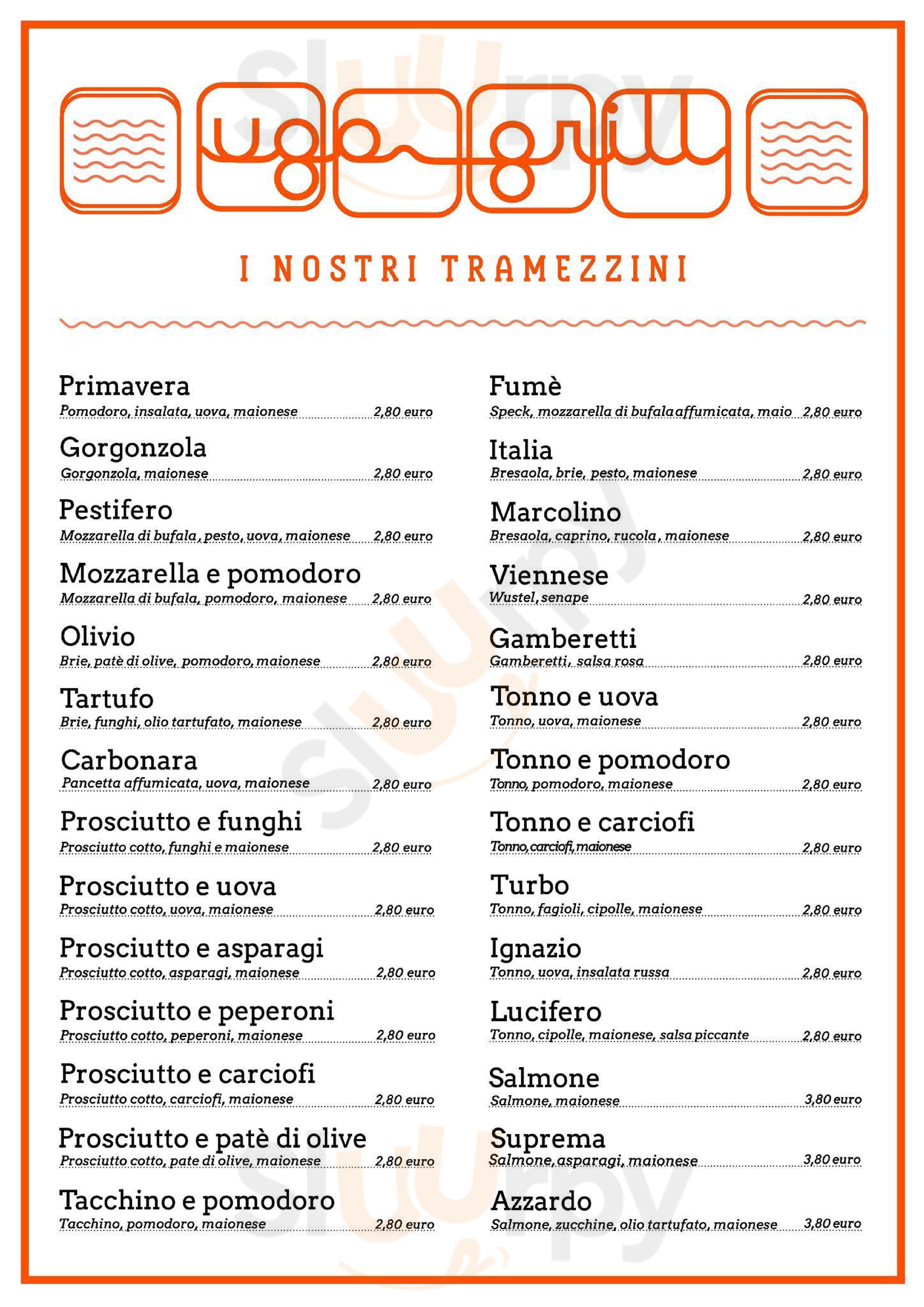 Ugo Grill Cremona menù 1 pagina
