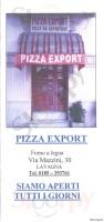 Pizza Export, Lavagna