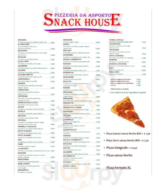 Snack House - Pizzeria Da Asporto, Cremona