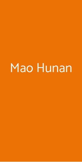 Mao Hunan, Milano