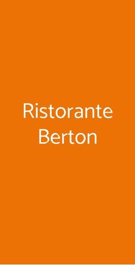 Ristorante Berton, Milano