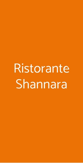 Ristorante Shannara, Milano
