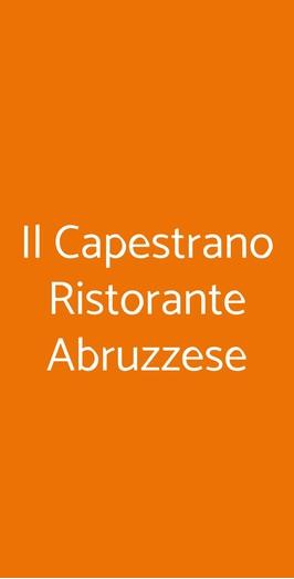 Il Capestrano Ristorante Abruzzese, Milano