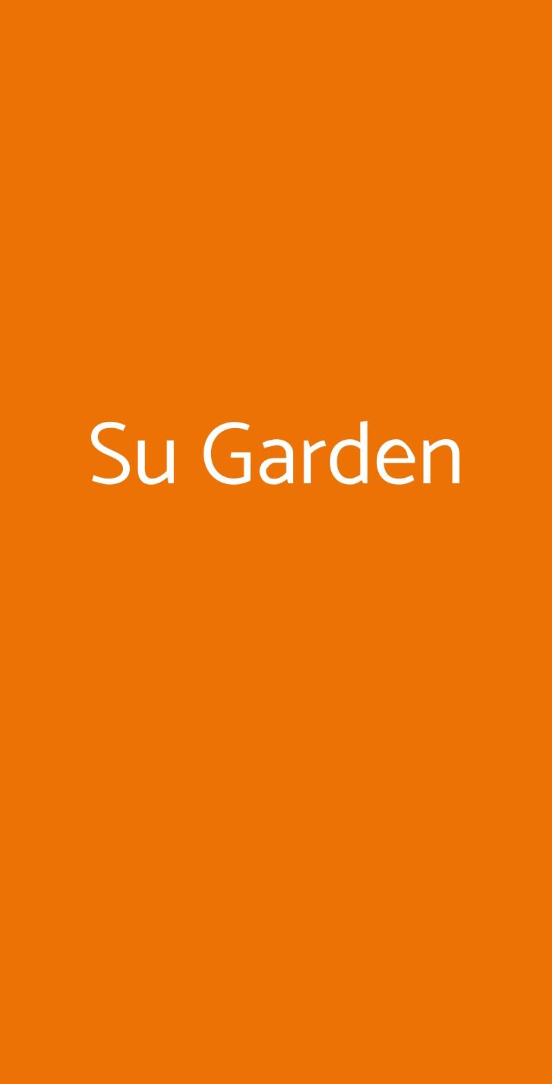 Su Garden Milano menù 1 pagina