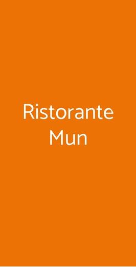 Ristorante Mun, Milano
