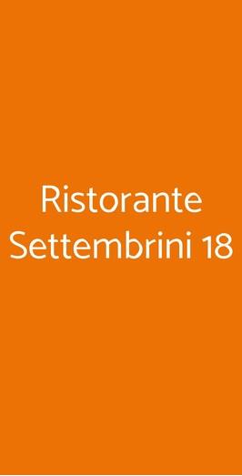 Ristorante Settembrini 18, Milano