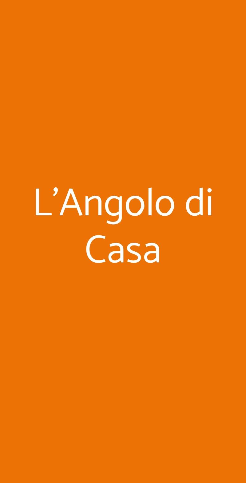 L'Angolo di Casa Milano menù 1 pagina