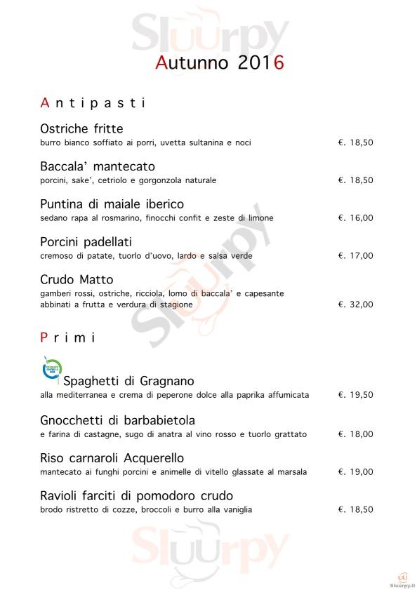 Innocenti Evasioni Milano menù 1 pagina