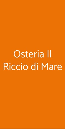 Osteria Il Riccio Di Mare, Milano