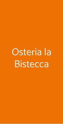 Osteria La Bistecca, Milano