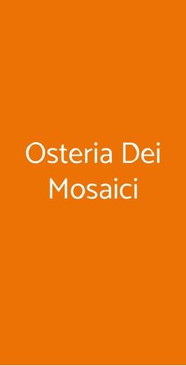 Osteria Dei Mosaici, Milano
