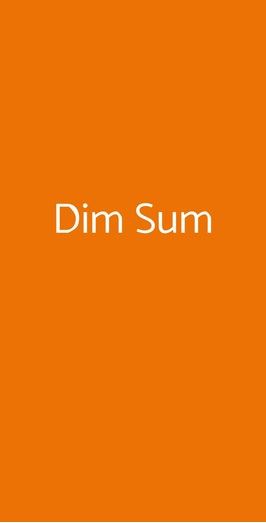 Dim Sum, Milano