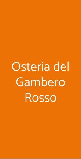 Osteria Del Gambero Rosso, Milano