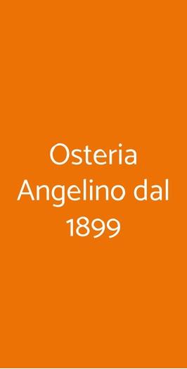 Osteria Angelino Dal 1899, Milano
