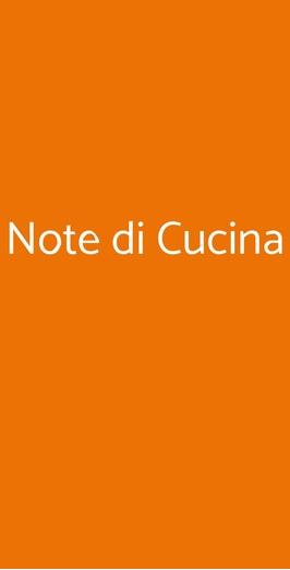 Note Di Cucina Milano Menu Prezzi Recensioni Del Ristorante