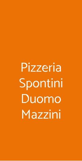 Pizzeria Spontini Duomo Mazzini, Milano