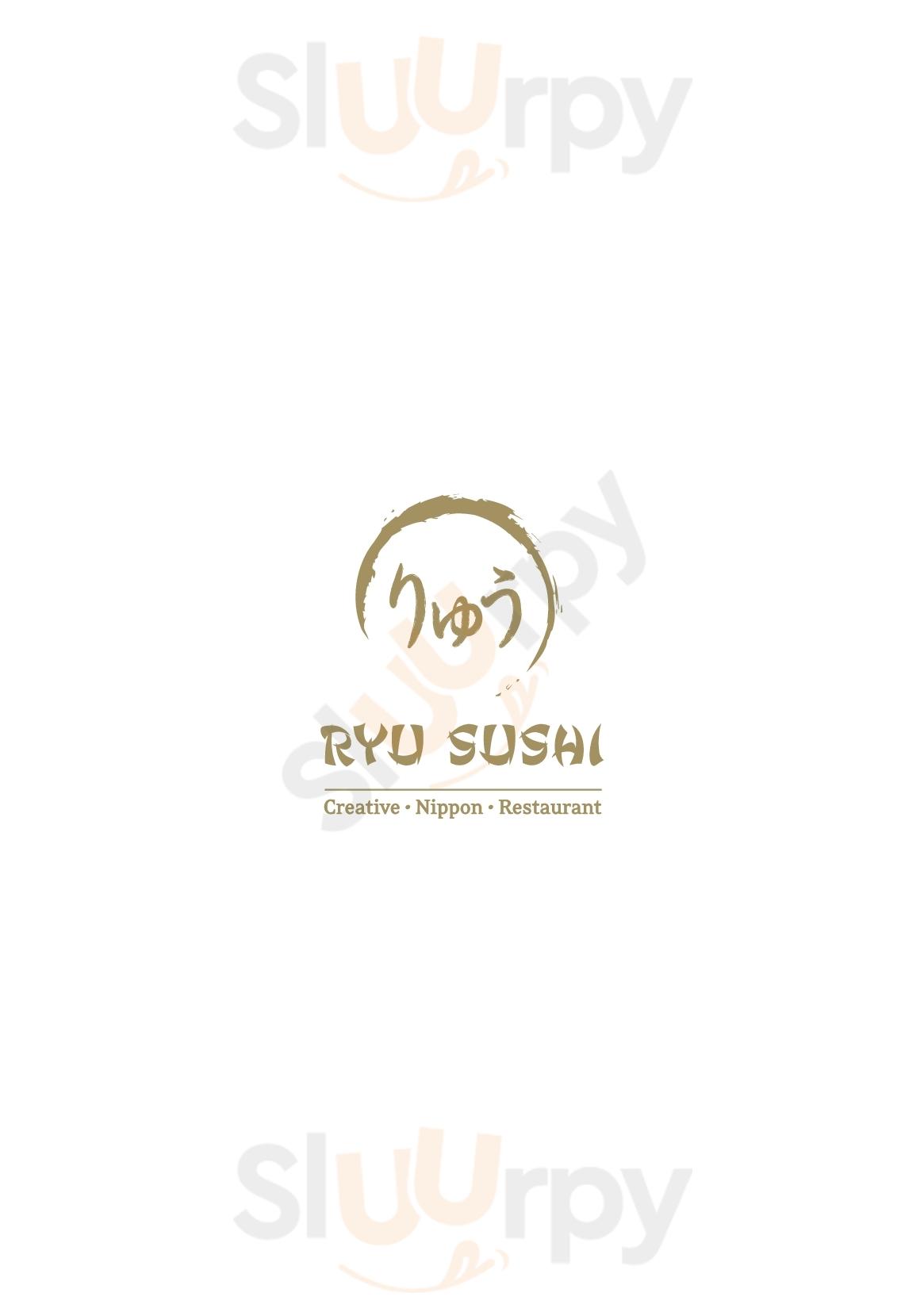 Ryu Sushi Milano menù 1 pagina