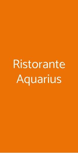 Ristorante Aquarius, Milano