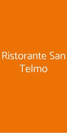 Ristorante San Telmo, Milano