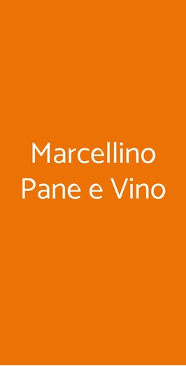 Marcellino Pane E Vino, Milano