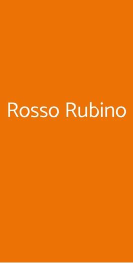 Rosso Rubino, Milano