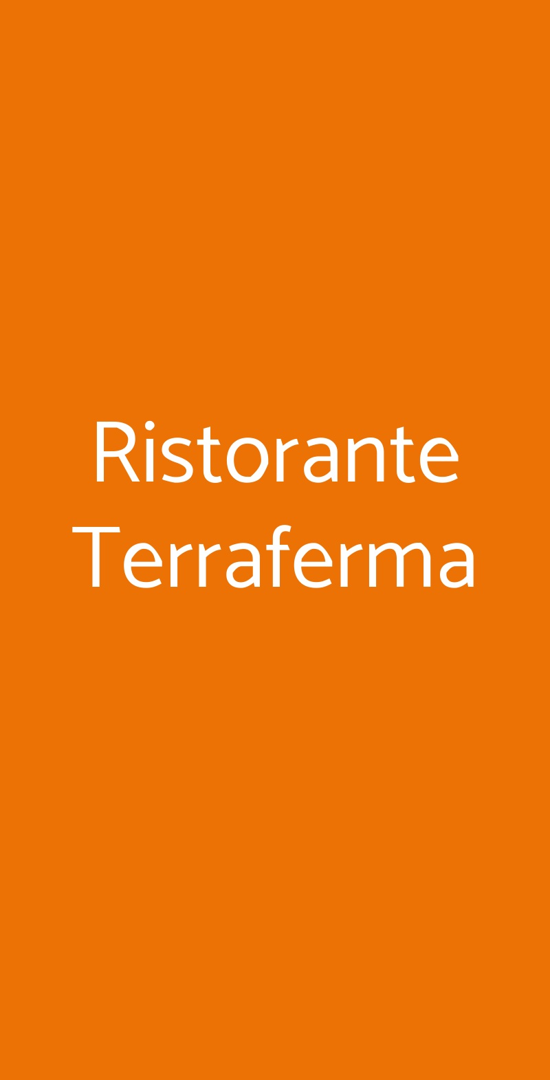 Ristorante Terraferma Milano menù 1 pagina