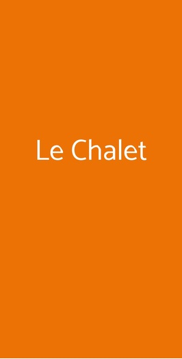 Le Chalet, Milano