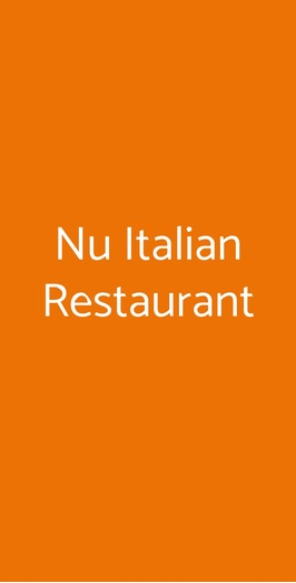 Nu Italian Restaurant, Milano