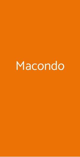 Macondo, Milano