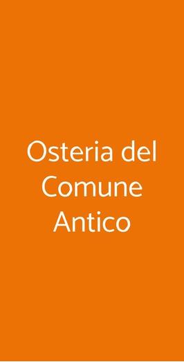 Osteria Del Comune Antico, Milano