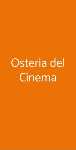 Osteria Del Cinema, Milano