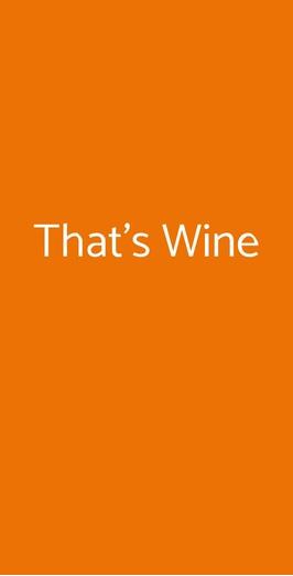 That's Wine, Milano