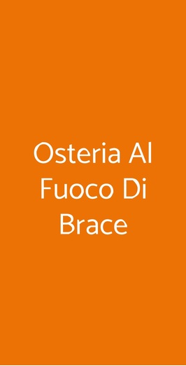 Osteria Al Fuoco Di Brace, Milano