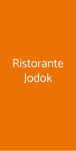 Ristorante Jodok, Milano