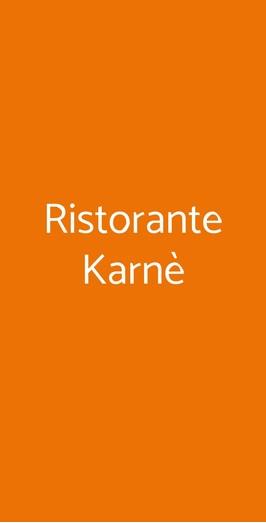 Ristorante Karnè, Milano