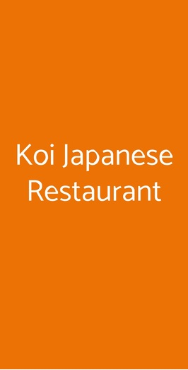 Koi Japanese Restaurant, Milano