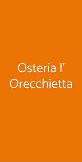 Osteria L' Orecchietta, Milano